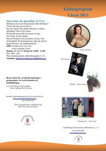 Kulturprogram Våren 2013 - Sundbyberg
