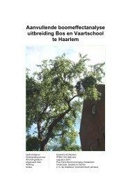 Bijlage 4 Aanvullende boomeffectanalyse uitbreiding Bos en ...