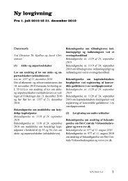 Ny lovgivning - Fra 1. juli 2010 til 31. december 2010