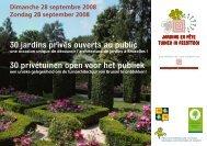 30 jardins privés ouverts au public 30 privétuinen open voor ... - IBGE