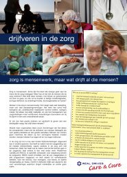 Download folder Drijfverenmethodiek - In voor zorg!