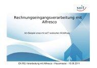 Frank Döhrn - Rechnungseingangsverarbeitung mit Alfresco - SoIT