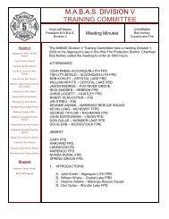 Interdivisional Alarm Card Mabas Division Three