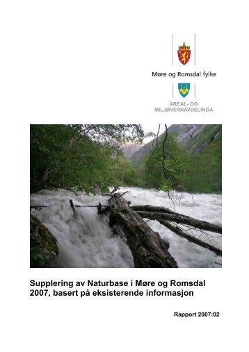 Supplering av Naturbase i Møre og Romsdal - Fylkesmannen.no