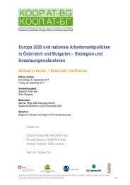 Europa 2020 und nationale Arbeitsmarktpolitiken in ... - KOOP AT-EE