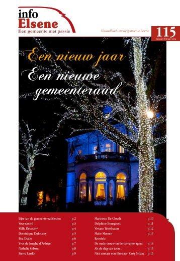 Een nieuw jaar Een nieuwe gemeenteraad - Elsene