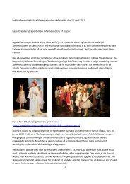 Rektors beretning - april 2011 - JohannesGymnasiet