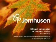 Efficient combination of transport modes (In swedish) - IVL Kunskap ...