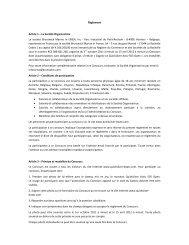 Règlement Article 1 – La Société Organisatrice ... - Brunswick Marine