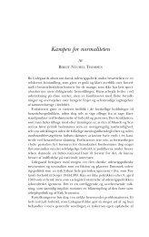 Kampen for normaliteten - Historisk Tidsskrift