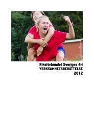 Riksförbundet Sveriges 4H 2012