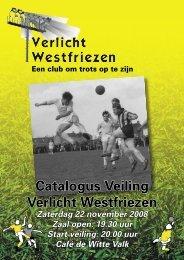 Catalogus Veiling Verlicht Westfriezen - S.V. Westfriezen