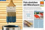 Wasserbasierte Lacke stellen an Pinsel hohe Anforderungen