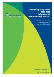 Uitvoeringsprogramma 2012-2015 - Gemeente Heerhugowaard