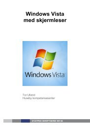 Windows Vista med skjermleser nr 84 (Pdf-fil 320 kB) - Statped