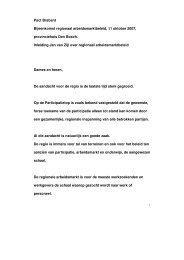 Speech Regionaal arbeidsmarktbeleid - Raad voor Werk en Inkomen