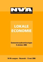 BROCHURE LOKALE ECONOMIE - N-VA