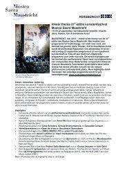 Persbericht mei 2013 - Musica Sacra