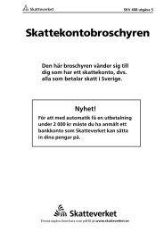 SKV 408 utgåva 5, Skattekontobroschyren, svartvit ... - Skatteverket