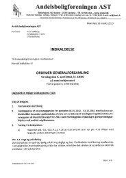 Indkaldelse til Generalforsamling april 201 - Andelsboligforeningen ...