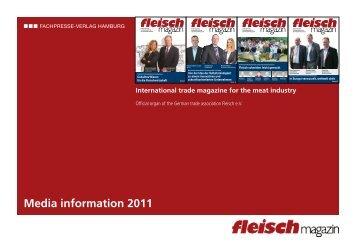Media information 2011 - beim SN-Fachpresse Verlag