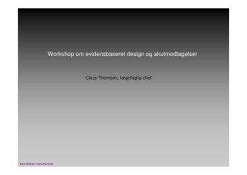Workshop om evidensbaseret design og akutmodtagelser