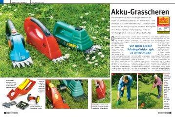 Akku-Grasscheren