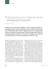 Pedagogisk bruk av digitale tavler - Utdanningsforbundet