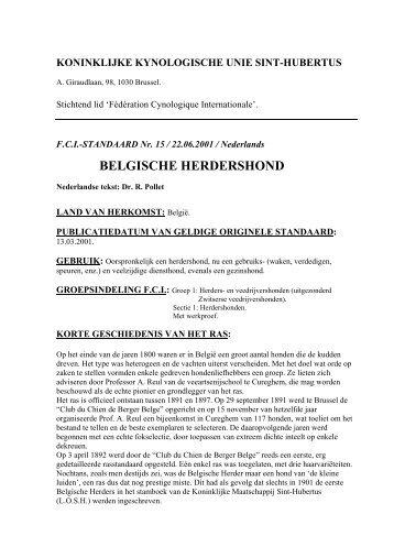 belgische herdershond - Koninklijke Maatschappij Sint-Hubertus
