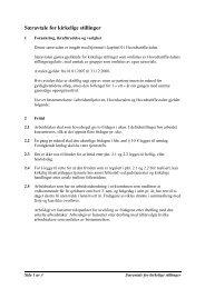 Særavtale for kirkelige stillinger
