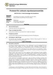 Protokoll från styrelsemöte, 2012-07-24 - Befälsföreningen Militärtolkar