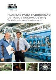 PLANTAS PARA FABRICAÇÃO DE TUBOS ... - SMS Meer GmbH