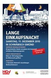 Lange Einkaufsnacht 11.12.2010 - Schwäbische Post