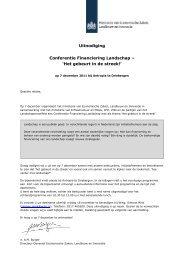 Uitnodiging Conferentie Financiering Landschap - Stichting ...