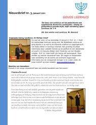 Nieuwsbrief nr. 3, januari 2011 - goudsleerhuis.org