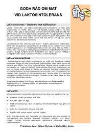 Laktosintolerans - Webbhotell SLL