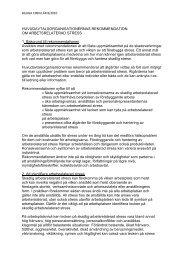 Huvudavtalsorganisationernas rekommendation om arbetsrelaterad ...
