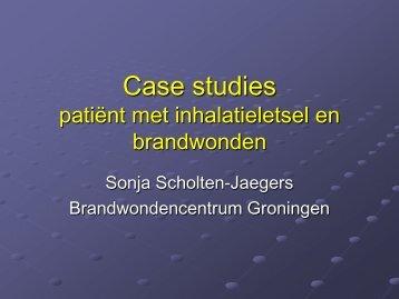 Case studies patient met inhalatieletsel en brandwonden