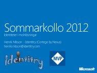 Identitet i molnlösningar - Microsoft