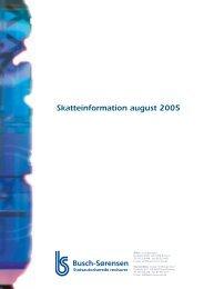 Skatteinformation august 2005