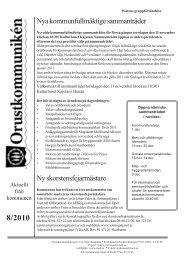 8/2010 - Orust kommun