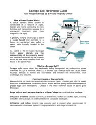 Sewage Spill Reference Guide - City of El Cajon