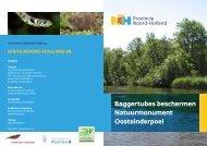 Baggertubes beschermen Natuurmonument Oosteinderpoel