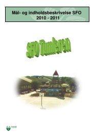 Mål- og indholdsbeskrivelse SFO 2010 - 2011 - Terndrup Skole