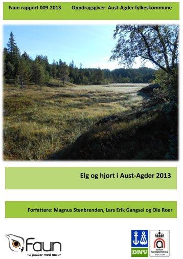 Bestandsrapport for elg og hjort i Aust-Agder 2013