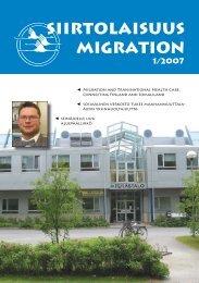 2007 - 1 - Siirtolaisuusinstituutti