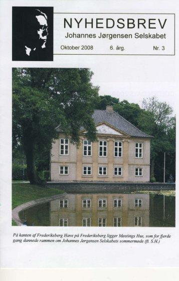 Nr. 3 - Oktober 2008 - Johannes Jørgensen Selskabet
