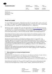 Skattedirektoratet Varsel om vedtak - Skatteetaten