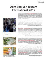 über die Texcare International 2012 - beim SN-Fachpresse Verlag