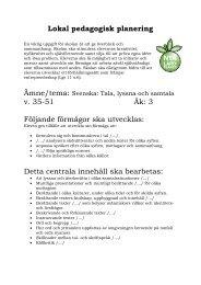 LPP Svenska tala, lyssna och samtala ht 2012 - Lindesberg.se
